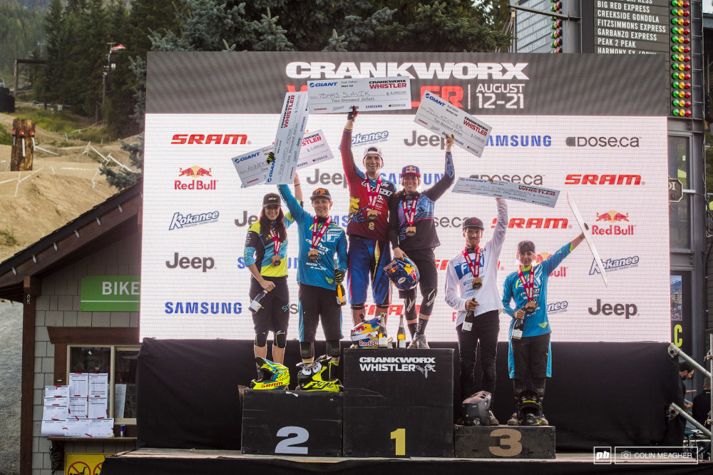 racing for the Gold in the 2016 Crankworx Giant Dual Slalom